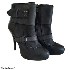 Ash Egoist Leather Ankle Boot Booties High Heels 8